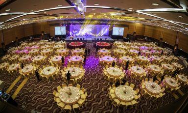 会议厅婚宴布置